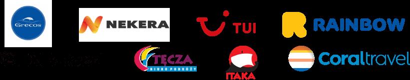 Logotypy partnerów Biura podróży RelaxTourist